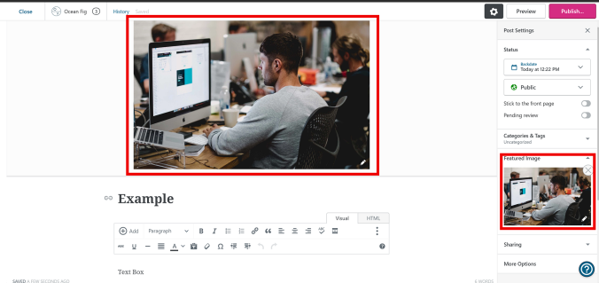 Adding a Featured Image