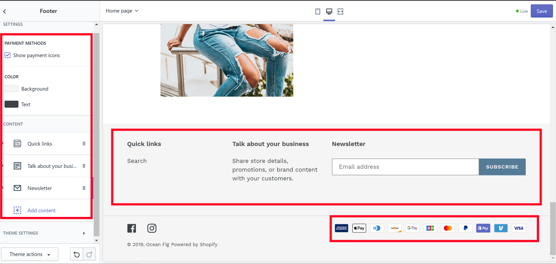 Footer Shopify