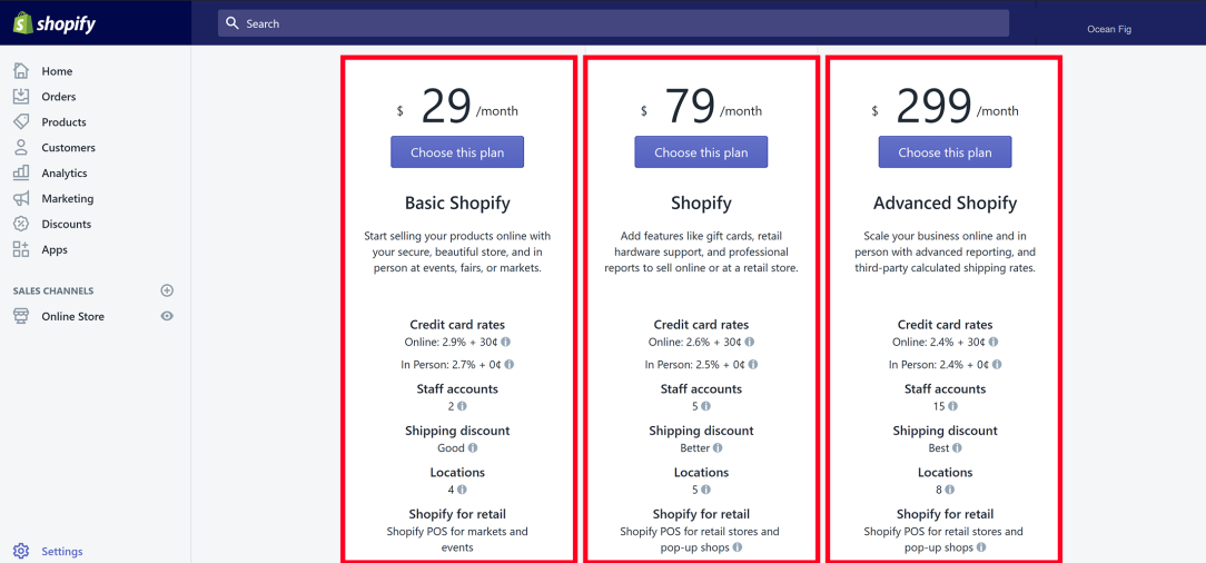 Shopify Service Packages