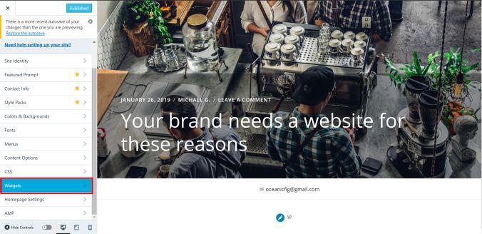 Widget Footer WordPress