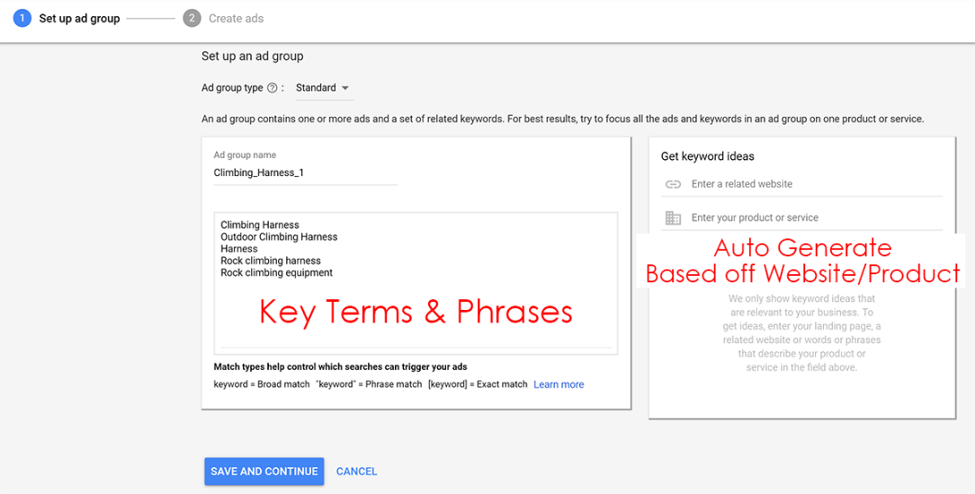 Key Terms & Phrases Google Ads
